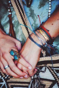 Turquoise and Pura Vida bracelets