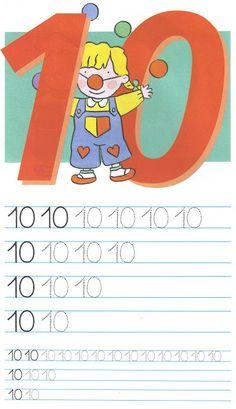 schrijfoefening 10 Phonics Song, Alphabet Phonics, Kids Learning Alphabet, Baby Learning, Language Activities, Preschool Activities, College Crafts, Kids Math Worksheets, Numbers Preschool