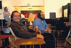 "30 Awesome Behind The Scenes Photos From Old Movies On he set of ""The Shining"": Jack Nicholson"