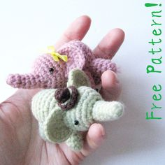 Percy The Elephant - Free Pattern! | He's super quick to mak… | Flickr
