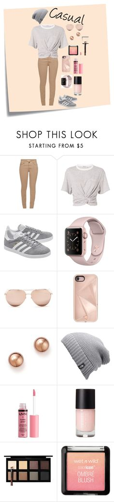 """""""Every Day Outfit"""" by abby526 on Polyvore featuring Post-It, Barbour, T By Alexander Wang, adidas Originals, Linda Farrow, Rebecca Minkoff, Bloomingdale's, The North Face, Charlotte Russe and Down to Earth"""