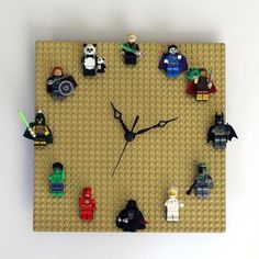 Make an adorable DIY lego clock for your lego movie bedroom theme. You can also customize the lego figurines depending on which characters you want on your awsome clock!