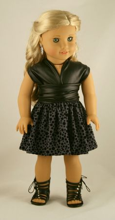 18 Doll Clothes fits American Girl  Original by Forever18Inches $28...SO ADORABLE IN  FAUX-LEATHER!