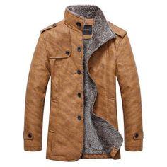 Epaulet Embellished Stand Collar Single-Breasted Jacket (KHAKI,XL) in Jackets & Coat | DressLily.com