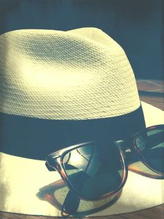 Panama hats and sun glasses are the perfect combo!