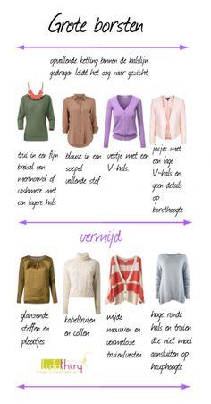 Zo kun je je borsten kleiner laten lijken  www.lidathiry.nl  klik voor het blog. #GroteBorsten #kledingtip