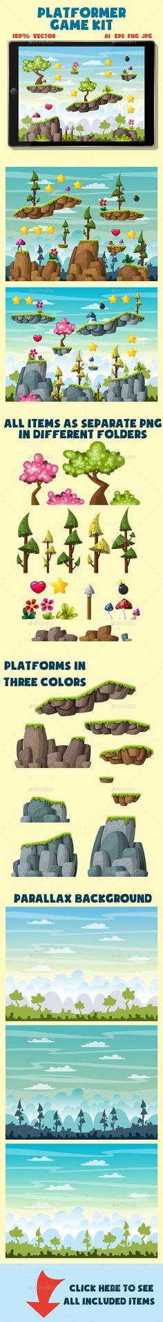 Platformer Game Pack - Tilesets Game Assets