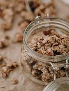 Granola, A Table, Smoothie, Brunch, Sugar, Breakfast, Sweet, Puddings, Pancakes