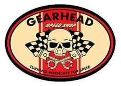 GearHead Speed Shop Vintage Skull Pistons Hot Rod Car Old School T Shirt