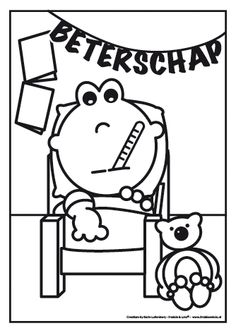 Beterschap Frokkie! Coloring Pages, School, Snoopy, Printables, Projects, Ambulance, Diy, Fictional Characters, Drawings