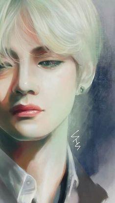 Bts Taehyung, Taehyung Fanart, Fanart Kpop, Bts Art, Hxh Characters, V Bts Wallpaper, Kpop Drawings, Bts Chibi, Vmin