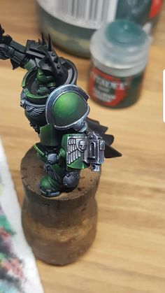 Warhammer Paint, Warhammer 40000, Salamanders Space Marines, Dark Angels 40k, Warhammer 40k Miniatures, Fantasy Miniatures, Mini Paintings, Miniture Things, Figs