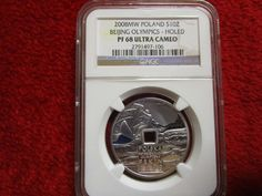 2008 Poland Silver 10zl NGC PF 68 Beijing Olympics XXIX Silver Coin ULTRA CAMEO