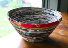 bowl from magazines. do remember to try this!