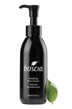 Boscia Detoxifying Black Cleanser. A glycolic acid face wash that heats up as it cleans.