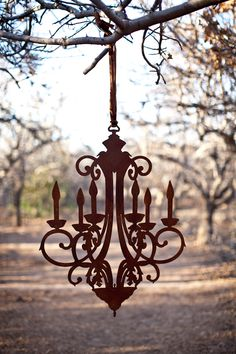 """Our 36"""" Rusted Chandelier"""