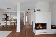 2 sided corner fireplace - Google Search