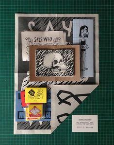 Says Who Junk Mailer 2014 by Shaun Hill, via Behance Blog Design Inspiration, Self Promo, Lowbrow Art, Creative Industries, Portfolio Design, Packaging Design, Print Design, Character Design, Paper Crafts