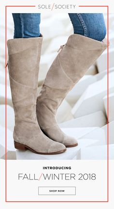 The over-the-knee boot with an angular topline and unique stitching. Shop Tiff at Sole Society! The over-the-knee boot with an angular topline and unique stitching. Shop Tiff at Sole Society! Fashion Shoes, Fashion Accessories, Stitch Fix Outfits, Cute Boots, Winter Boots, Over The Knee Boots, Autumn Winter Fashion, Fall Fashion, Me Too Shoes