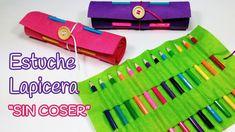 INNOVA MANUALIDADES nos muestra lo fácil que es hacer un estuche para los lápices con fieltro.