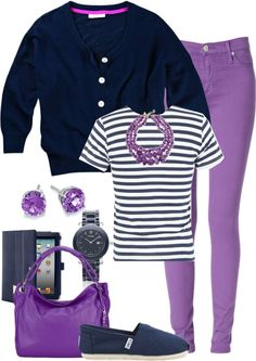 """""""Purple Jeans 2"""" by denise-cooper ❤ liked on Polyvore"""