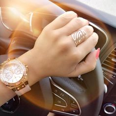 Rose gold ring Juwele Guess watches