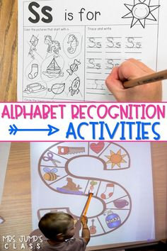 Alphabet recognition and fluency activities. Fun activities and ideas to help your students master letter identification and sound during whole group, small group, and centers! #alphabetrecognition #alphabetactivities #fluency