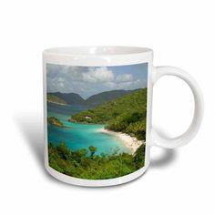 3dRose Usvi, St. John, Trunk Bay, Virgin Islands NP-CA37 CMI0147 - Cindy Miller Hopkins, Ceramic Mug, 15-ounce