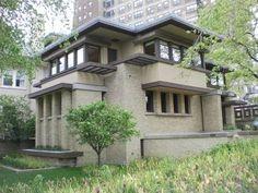 Emil Bach Residence. Chicago, Illinois. 1915. Prairie Style. Frank Lloyd Wright.
