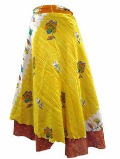 Sarong Wrapskirt Vintage Silk Sari Yello Brown Long Skirt Dress for Women Mogul Interior,http://www.amazon.com/dp/B00KLBJL0S/ref=cm_sw_r_pi_dp_-r8Htb1TXJXVJGDH