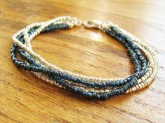 DIY Tutorial: DIY Wrapped Bracelet / DIY Multi Strand Bracelet or Necklace - Bead&Cord