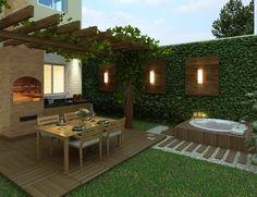 Pergola Over Front Door Product Small Backyard Gardens, Backyard Patio Designs, Small Backyard Landscaping, Rooftop Terrace Design, Jacuzzi Outdoor, Roof Top, Ideas, Gardening, Pergola Roof