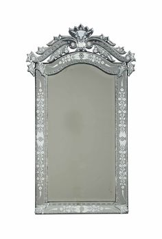 A venetian etched glass mirror, 20th century