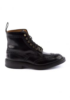Derby Full-Brogue Cordovan Lace-Up Boot Black