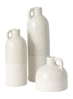 TenWaterloo Set of 3 Ceramic Bud Vases in Speckled Cream Finish- 4 Inches, inches and Inches High Bowl Fillers, Bud Vases, Vases Decor, Bookshelf Decorating, Fresh Flowers, Entryway Decor, Farmhouse Decor, Great Gifts, It Is Finished