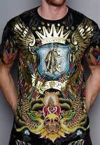 Blk & Gold christian audigier men's shirt