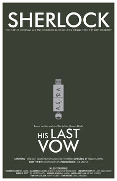 His Last Vow // Minimalist Alternative Mystery by TheGeekerie