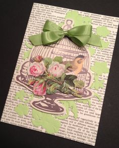 Sweet Floral Valentine's Day or All Occasion Card with Anna Griffin Roses
