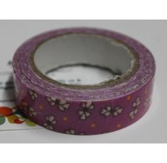 Buy Dark purple with white flowers decorative tape/Adhesive for any use by undefined, on Paytm, Price: Rs.125?utm_medium=pintrest