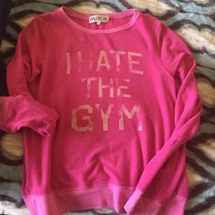 "Wildfox jumper Gentle used Wildfox jumper. ""I HATE THE GYM"" Wildfox Tops Sweatshirts & Hoodies"