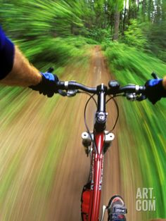 MOUNTAIN BIKE TRAIL RIDING - Awesome print to hang on your wall! #bikeart Photographic Print|By Chuck Haney|