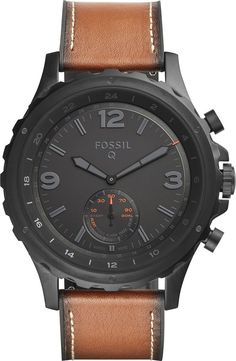 Fossil - Q Nate Smartwatch 50mm Stainless Steel - Black