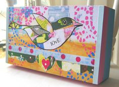 Love Bird wooden box