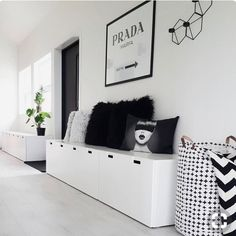 Ikea hallway storage best ideas on small entrance with bench decor hacks furniture canada . White Storage Bench, Entryway Bench Storage, Ikea Storage, Playroom Storage, Wall Storage, Storage Benches, Gun Storage, Storage Cabinets, Storage Ideas