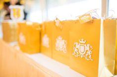 Favor bags adorned w