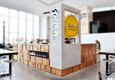 Visit the post for more. Kiosk Design, Retail Design, Exhibition Booth Design, Exhibition Ideas, Bar Bistro, Mobile Kiosk, Airport Food, Mall Kiosk, Food Kiosk