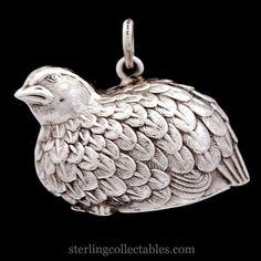 Cazenovia Partridge Sterling Ornament