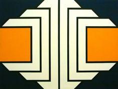 Bak Imre, Narancs, 1969, akril vasznon, 150x200cm