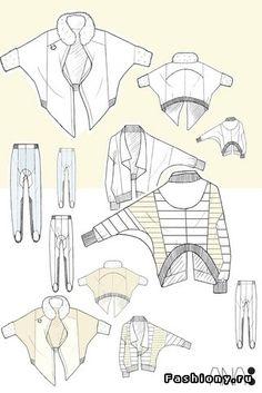 Технические эскизы одежды
