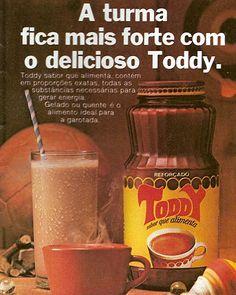 Toddy em vidro, anos 80: o melhor Toddy, embolotava mas não era tão açucarado como o produto de hoje em dia :)